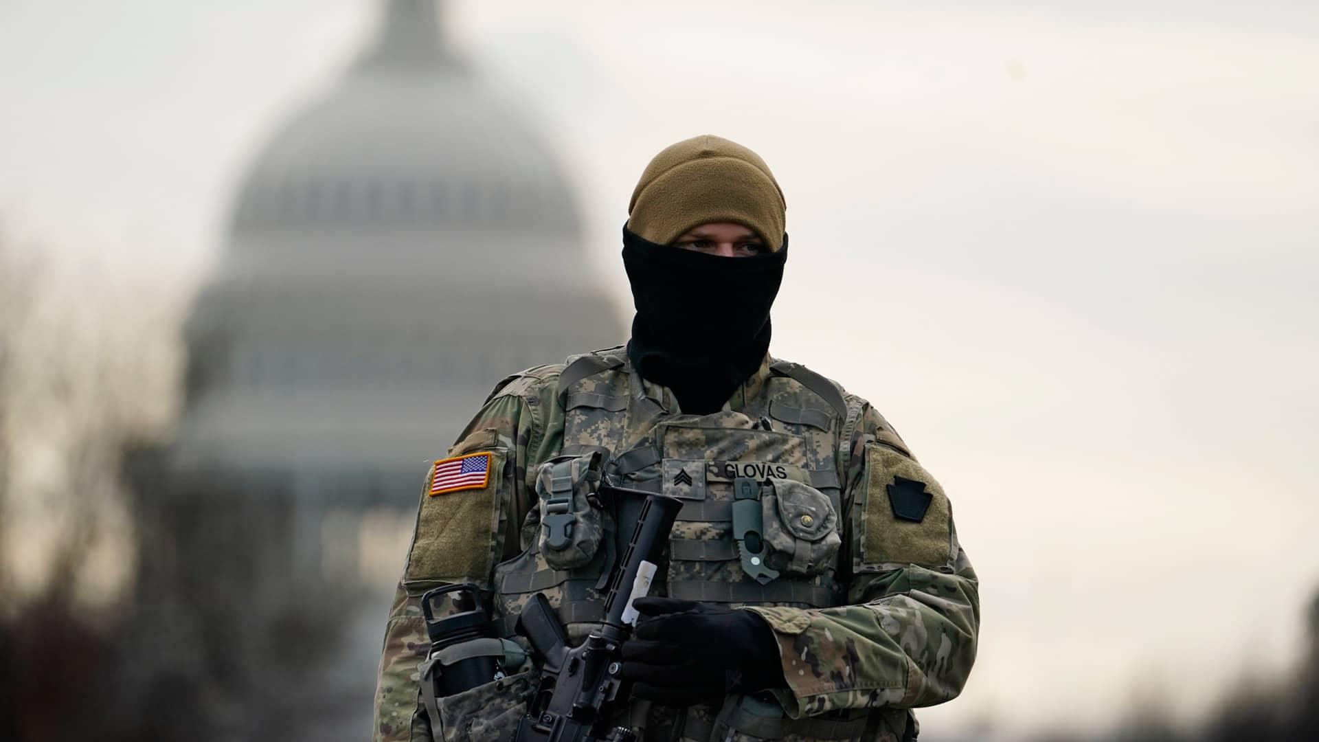 امنیت قبل از افتتاح در واشنگتن به چه صورت است