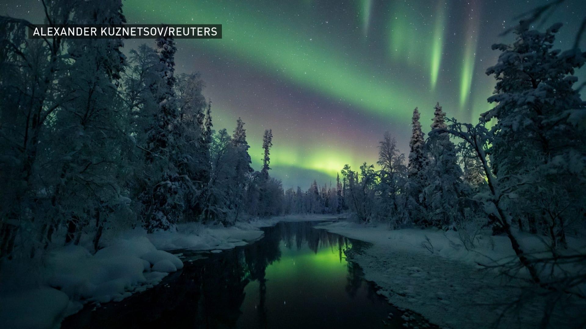 درخشش زیبایی بر آسمان فنلاند می درخشد